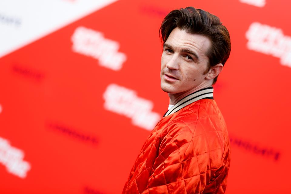 """LOS ANGELES, CA - JULY 25:  Drake Bell attends the premiere of Lionsgate's """"The Spy Who Dumped Me"""" at Fox Village Theater on July 25, 2018 in Los Angeles, California.  (Photo by Rich Fury/WireImage)"""