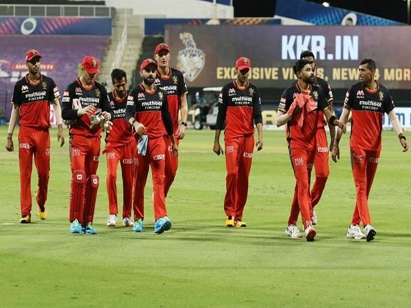 RCB players after finishing first inning against KKR (Image: BCCI/IPL)