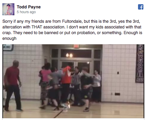 Other parents took to social media to express their disgust over the fight. Source: Facebook/Todd Payne