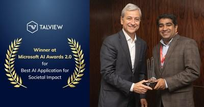 Talview recognized at Microsoft's AI Awards 2.0.