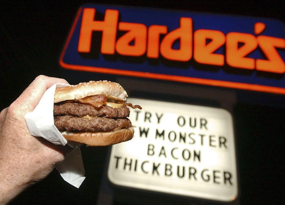 """<p><a href=""""https://hardees.com/"""" rel=""""nofollow noopener"""" target=""""_blank"""" data-ylk=""""slk:Hardee's"""" class=""""link rapid-noclick-resp"""">Hardee's</a> wins a big yellow star for offering signature savory and sweet eats on Christmas. We're tempted to top our tree with a giant """"H"""" for our new favorite burger spot.</p>"""
