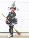 """<p>Use acrylic craft paint to make this creepy crawly getup, that's perfect for children but works for adults too. For an extra spooky (and easy!) factor, twist a faux spiderweb around a black tutu. </p><p><a class=""""link rapid-noclick-resp"""" href=""""https://www.amazon.com/Sleeve-Modal-Sleepwear-Pajamas-Black/dp/B07YTJNW31/?tag=syn-yahoo-20&ascsubtag=%5Bartid%7C10072.g.33534666%5Bsrc%7Cyahoo-us"""" rel=""""nofollow noopener"""" target=""""_blank"""" data-ylk=""""slk:SHOP BLACK PAJAMAS"""">SHOP BLACK PAJAMAS</a></p><p><a class=""""link rapid-noclick-resp"""" href=""""https://www.amazon.com/6-Layered-Tutu-Aerobarre-Dancing-Petticoat/dp/B0796QBGJ4/?tag=syn-yahoo-20&ascsubtag=%5Bartid%7C10072.g.33534666%5Bsrc%7Cyahoo-us"""" rel=""""nofollow noopener"""" target=""""_blank"""" data-ylk=""""slk:SHOP TUTU"""">SHOP TUTU</a></p><p><a class=""""link rapid-noclick-resp"""" href=""""https://www.amazon.com/EXQUISITHEART-1000sqft-Halloween-Decorations-Spiders/dp/B07FNVNKGK/?tag=syn-yahoo-20&ascsubtag=%5Bartid%7C10072.g.33534666%5Bsrc%7Cyahoo-us"""" rel=""""nofollow noopener"""" target=""""_blank"""" data-ylk=""""slk:SHOP SPIDERWEB"""">SHOP SPIDERWEB</a></p><p><a class=""""link rapid-noclick-resp"""" href=""""https://www.amazon.com/Apple-Barrel-Acrylic-Assorted-21119/dp/B0018N4P54?tag=syn-yahoo-20&ascsubtag=%5Bartid%7C10072.g.33534666%5Bsrc%7Cyahoo-us"""" rel=""""nofollow noopener"""" target=""""_blank"""" data-ylk=""""slk:SHOP CRAFT PAINT"""">SHOP CRAFT PAINT</a></p>"""