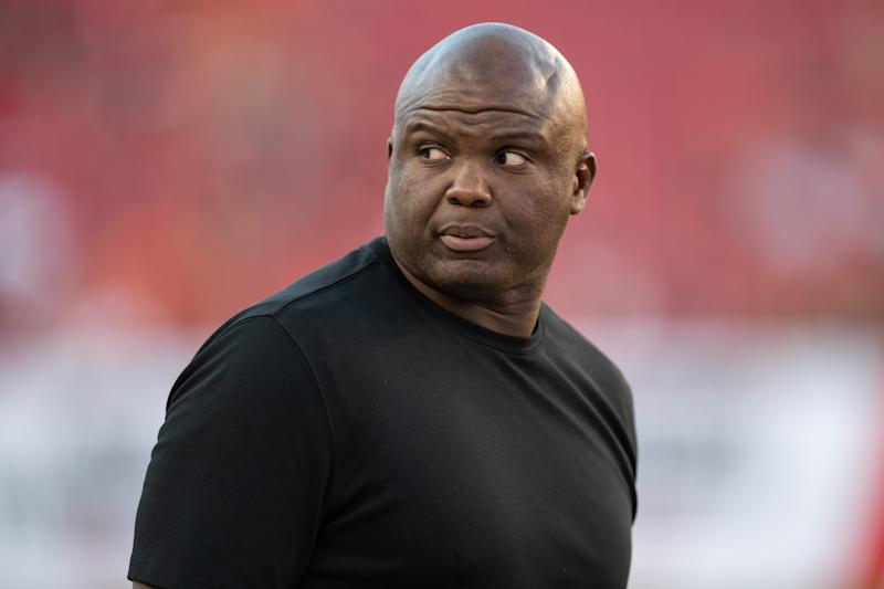 """Booger McFarland was removed from the """"Monday Night Football"""" booth after one season. (Photo by Roy K. Miller/Icon Sportswire via Getty Images)"""