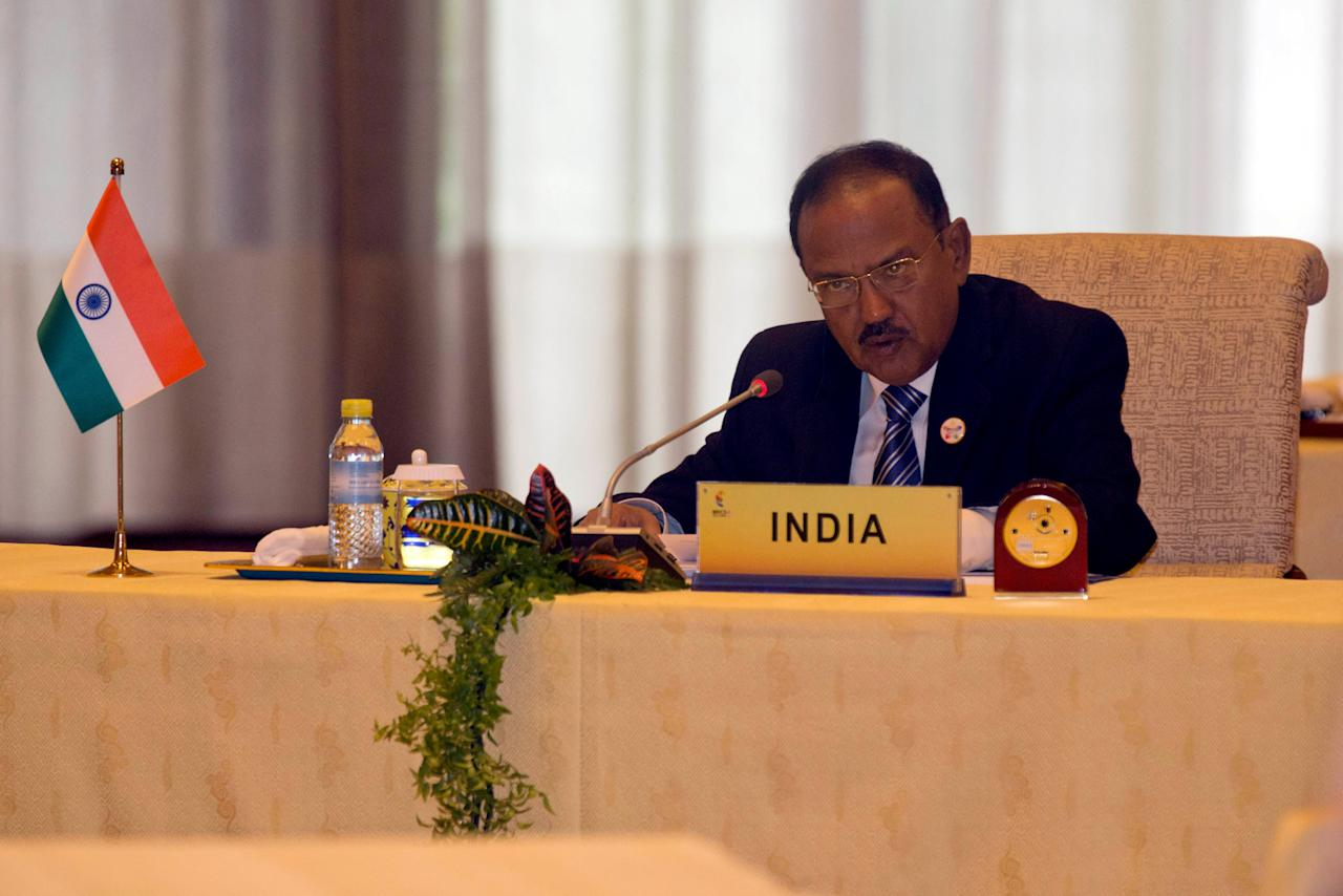 Indian National Security Advisor Ajit Doval, attends the seventh meeting of BRICS senior representatives on security issues held at the Diaoyutai state guesthouse in Beijing, China, Friday, July 28, 2017. REUTERS/Ng Han Guan/Pool