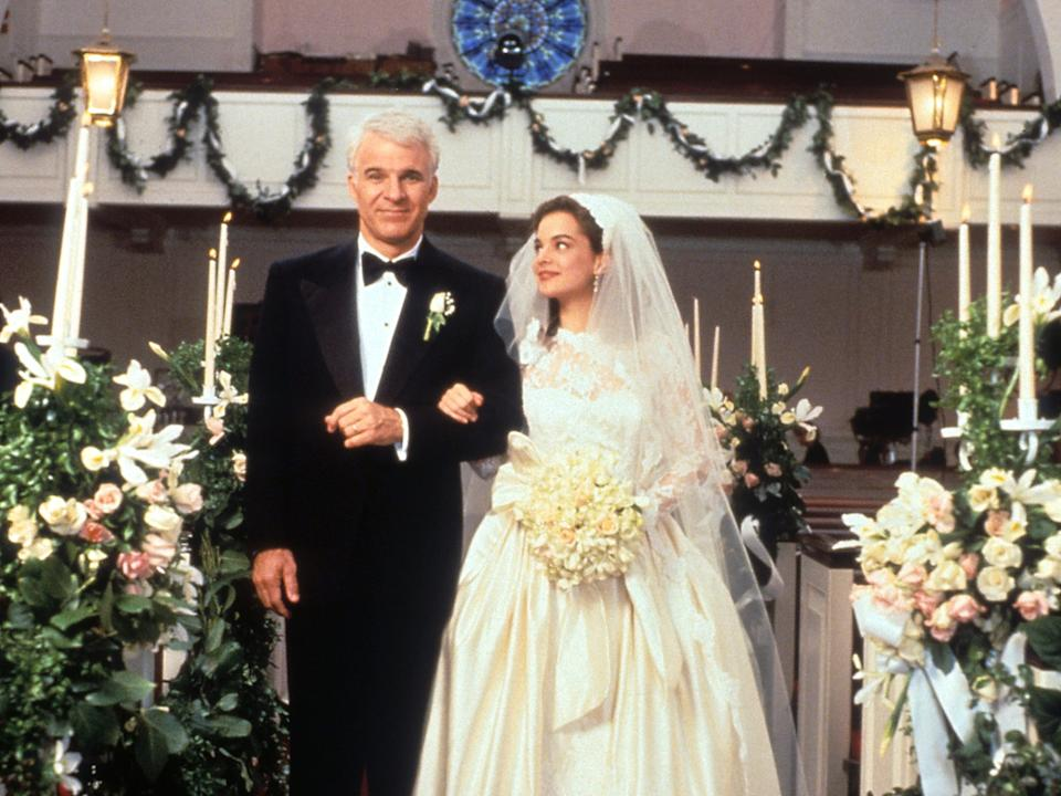 """Steve Martin with Kimberly Williams in """"Father Of The Bride"""" in 1991."""