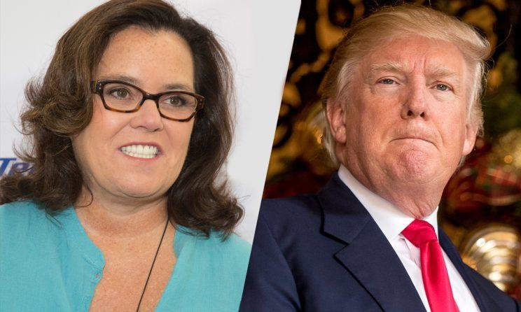 Rosie O'Donnell and Donald Trump. (Photos: Gabriel Olsen/FilmMagic/Getty—Andrew Harnik/AP)