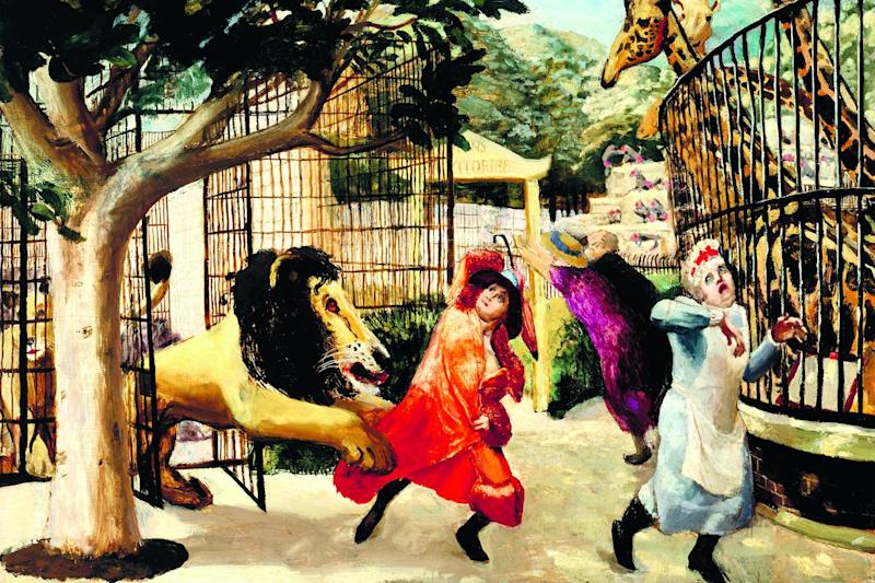 Animal magic: Allegro Strepitoso, 1932, by Carel Weight, from London in the Company of Painters by Richard Blandford: Tate/Tate Images