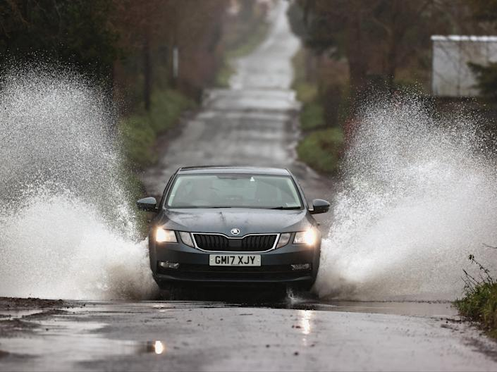 Weather warnings are in place for much of the UK as Storm Christoph moves in (PA)