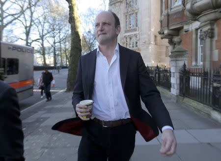 United Kingdom Independence Party (UKIP) MP Douglas Carswell leaves a television studio in central London, Britain March 25, 2017.   REUTERS/Paul Hackett