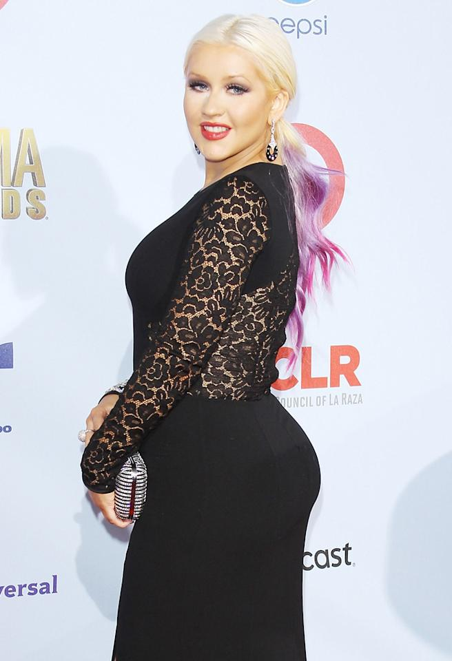 PASADENA, CA - SEPTEMBER 16: Christina Aguilera arrives at the NCLR 2012 ALMA Awards held at Pasadena Civic Auditorium on September 16, 2012 in Pasadena, California. (Photo by Michael Tran/FilmMagic)