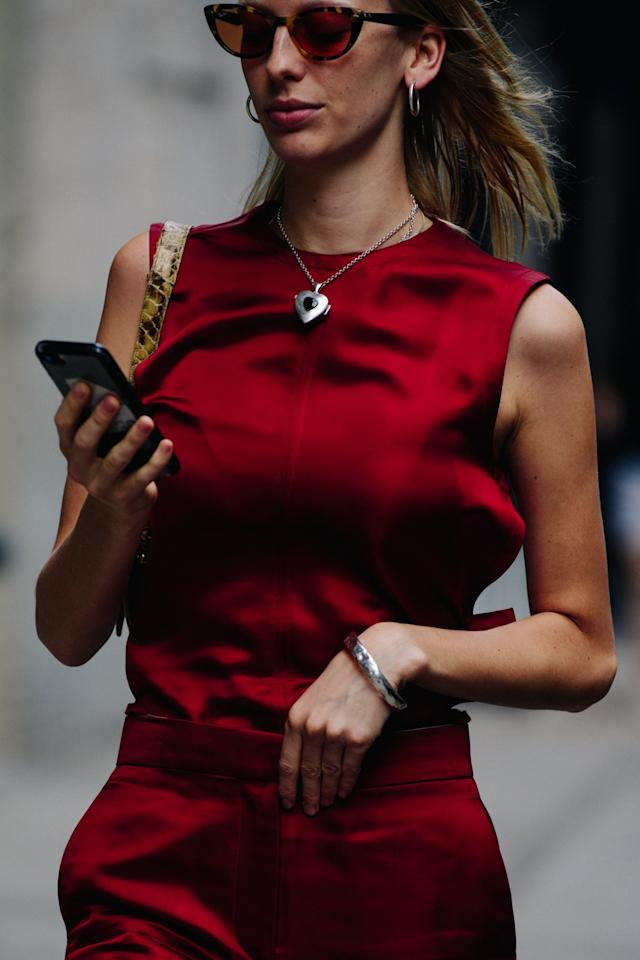Street style in New York City during New York fashion week on Saturday, September 7th, 2019. Photograph by Adam Katz Sinding for W Magazine.