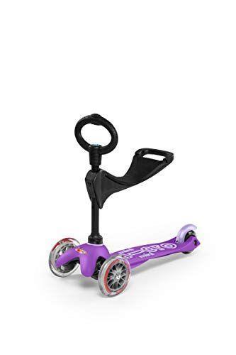 """<p><strong>Micro Kickboard</strong></p><p>amazon.com</p><p><strong>$119.99</strong></p><p><a href=""""https://www.amazon.com/dp/B01BE0JT7O?tag=syn-yahoo-20&ascsubtag=%5Bartid%7C10055.g.36902218%5Bsrc%7Cyahoo-us"""" rel=""""nofollow noopener"""" target=""""_blank"""" data-ylk=""""slk:Shop Now"""" class=""""link rapid-noclick-resp"""">Shop Now</a></p><p>If you're looking for a scooter that'll last them a long time, even in the very young years, this scooter has three phases. It starts as a ride-on to toy that can be used by kids as young as 1; afterwards, it becomes a scooter with an O-bar handlebars and, finally, a scooter with a T-bar handlebars. <em>Ages: 1 – 5</em></p>"""