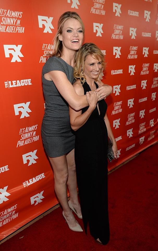 "HOLLYWOOD, CA - SEPTEMBER 03: Actresses Missi Pyle (L) and Shawnee Smith attends the premiere and launch party for FXX Network's ""It's Always Sunny In Philadelphia"" and ""The League"" at Lure on September 3, 2013 in Hollywood, California. (Photo by Michael Buckner/Getty Images)"