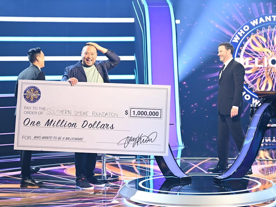 David Chang wins the top prize on 'Who Wants To Be A Millionaire?' (ABC)