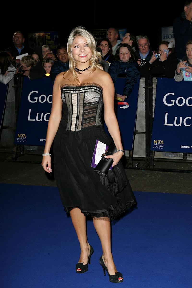 Holly Willoughby during National Television Awards 2005 at Royal Albert Hall, London in London, United Kingdom. (Photo by Goffredo di Crollalanza/FilmMagic)