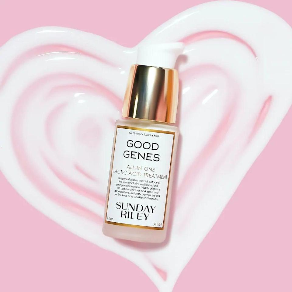 """<p>""""Years ago at a beauty event, there were mini samples of the <span>Sunday Riley Good Genes All-In-One Lactic Acid Treatment</span> ($85) out on a table and I witnessed editors flock to grab as many as they could before they were gone. That was my first experience with the product. Now that it's become a regular in my own nighttime routine, I finally get it. This treatment leaves skin glowing and smooth. I'm obsessed."""" - JH</p>"""