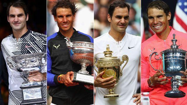 Federer and Nadal swept the majors in 2017. Image: Getty