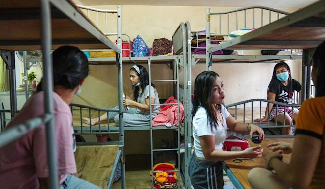 Domestic workers at a boarding house in Causeway Bay similar to those linked to past coronavirus clusters. Photo: Sam Tsang