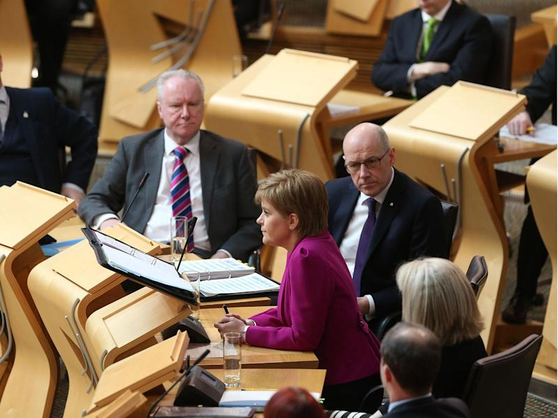 Nicola Sturgeon fields questions in Scottish Parliament: Rex