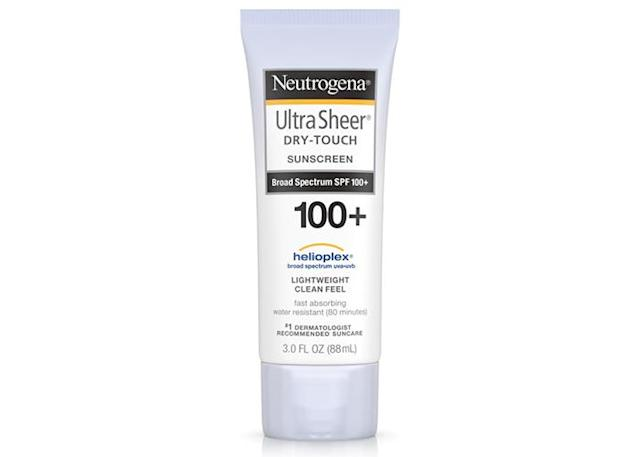 Neutrogena Ultra Sheer Dry-Touch Sunblock SPF 100. (Photo: Ulta)