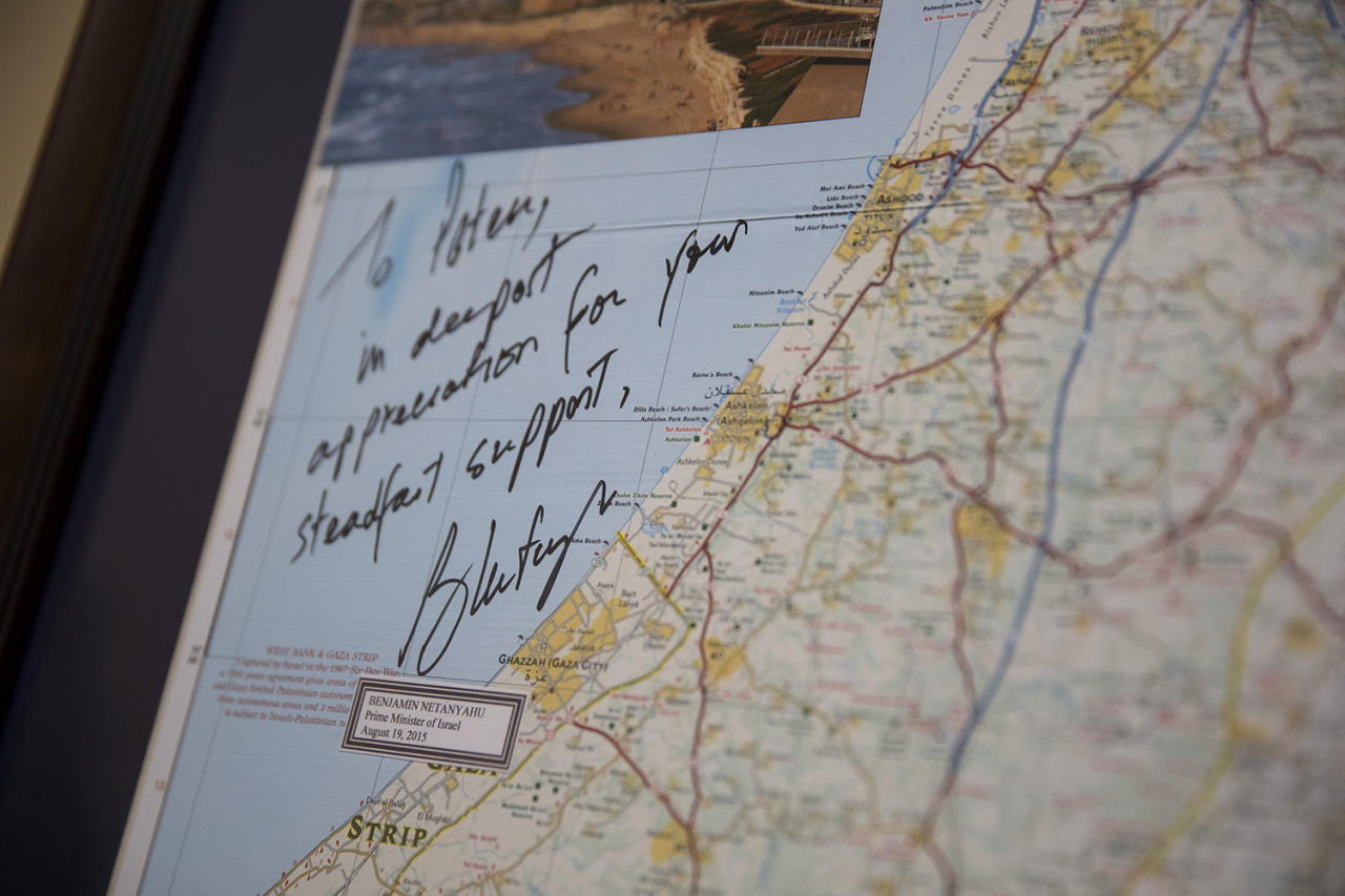 <p>A map of Libya is seen in the office of Rep. Peter Roskam (R-IL) in the Rayburn House Office Building February 1, 2017 in Washington, DC. (Aaron P. Bernstein for Yahoo News) </p>