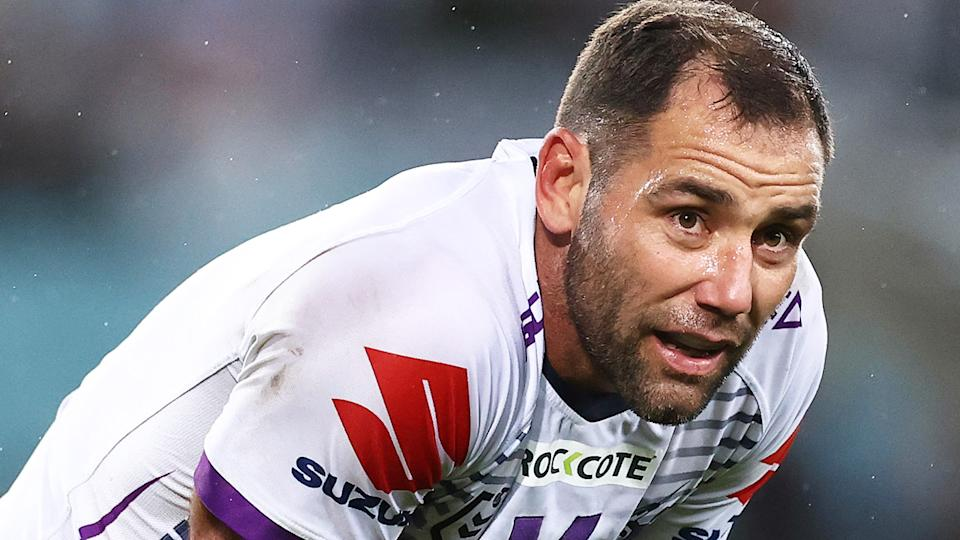 Cameron Smith is pictured during the 2020 NRL grand final.