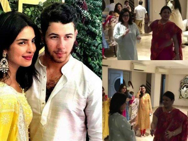 Priyanka Chopra and Nick Jonas' mothers dance to Punjabi music