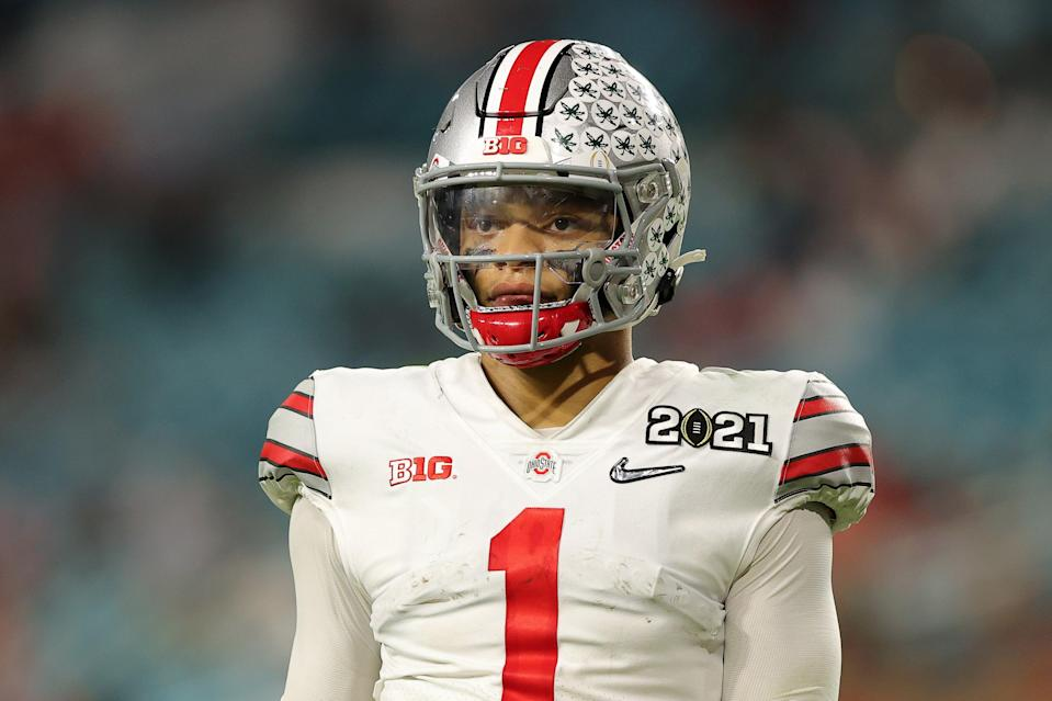Ohio State star Justin Fields faces an uncertain draft nightGetty Images
