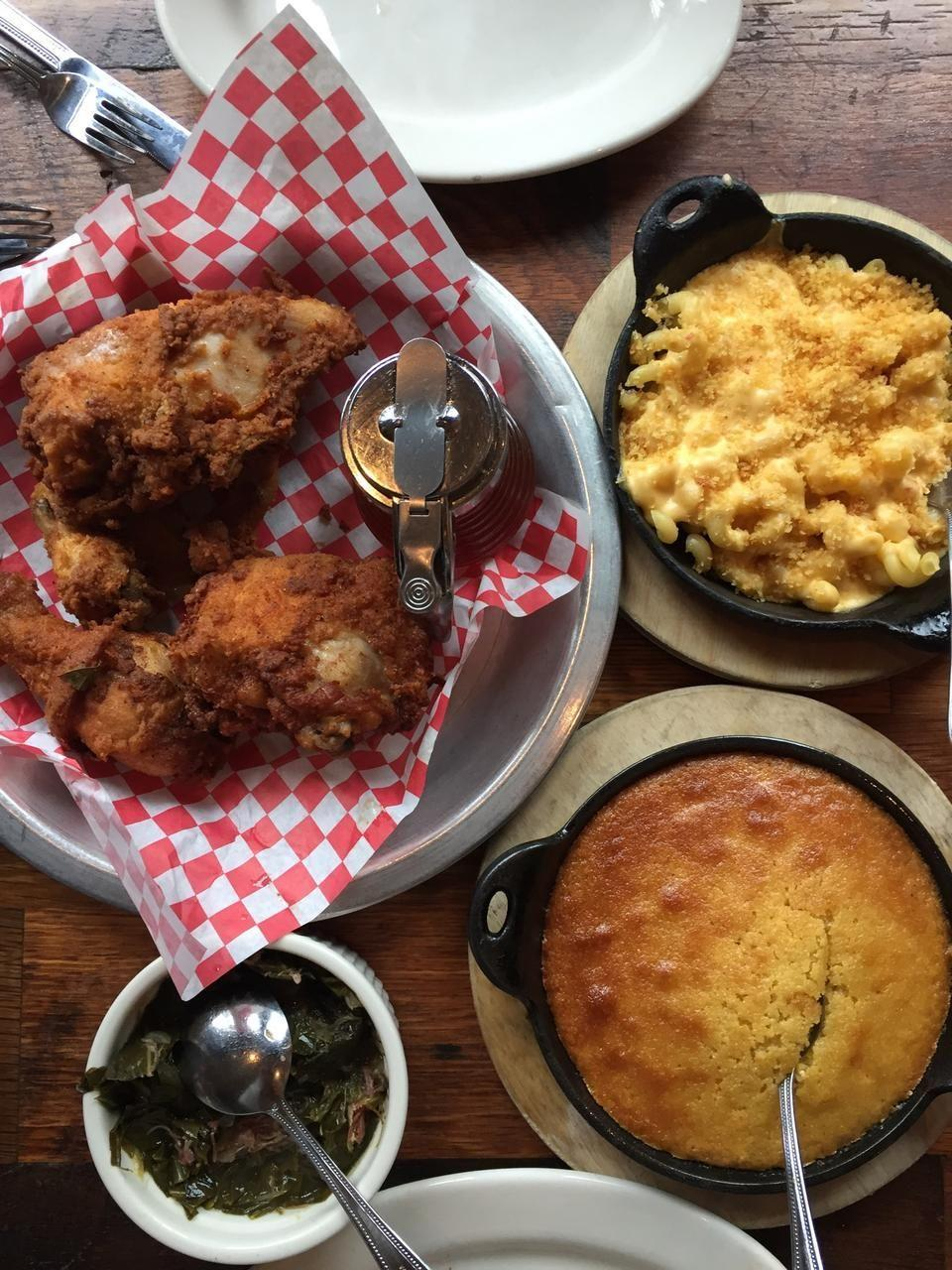 """<p><a href=""""https://www.tripadvisor.com/Restaurant_Review-g60993-d6481795-Reviews-The_Eagle_Food_and_Beer_Hall-Cincinnati_Ohio.html"""" rel=""""nofollow noopener"""" target=""""_blank"""" data-ylk=""""slk:The Eagle OTR"""" class=""""link rapid-noclick-resp"""">The Eagle OTR</a>, Cincinnati</p><p>One of my favorite restaurants in the beautiful Over-the-Rhine district. Phenomenal dark chicken, must try their honey as it has a spicy kick along with Mac 'n' cheese, spoon bread and a Rhinegeist!<span class=""""redactor-invisible-space""""> - Foursquare user <a href=""""https://foursquare.com/erikallyn"""" rel=""""nofollow noopener"""" target=""""_blank"""" data-ylk=""""slk:Erik Rowley"""" class=""""link rapid-noclick-resp"""">Erik Rowley</a></span></p>"""