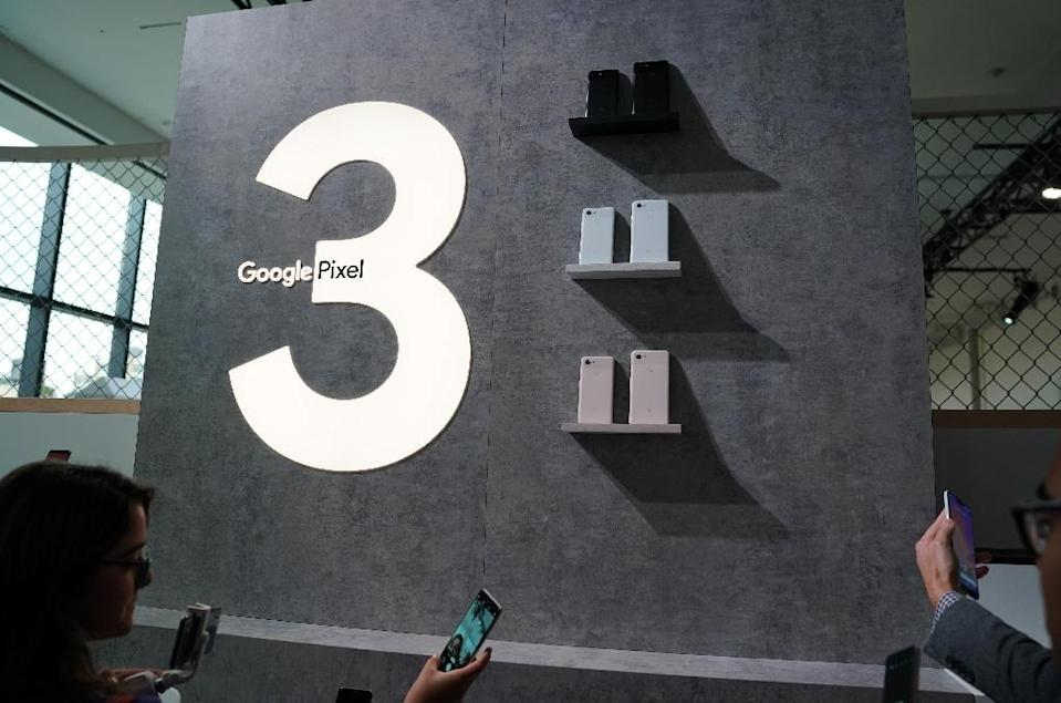 Google unveiled its Pixel 3 phone in New York amid fresh calls for improved privacy over a breach exposing data from its Google+ social network (AFP Photo/TIMOTHY A. CLARY)