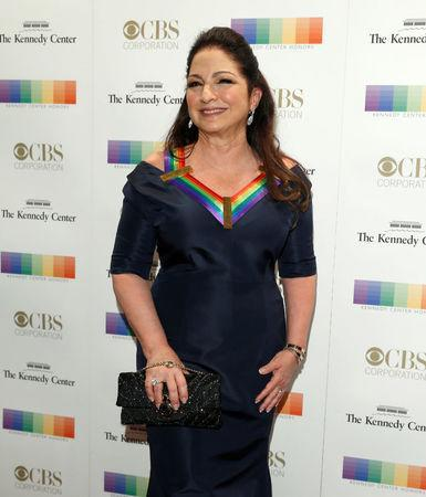 Kennedy Center Honoree singer Gloria Estefan arrives for the Kennedy Center Honors in Washington, U.S., December 3, 2017. REUTERS/Joshua Roberts