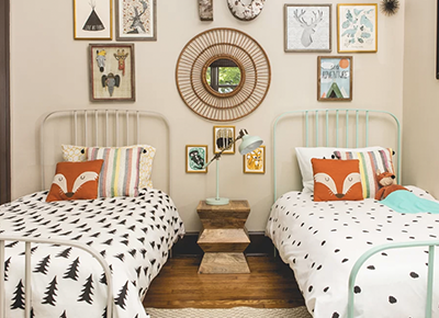 6 Boy-and-Girl Shared Bedroom Ideas for Keeping the Peace While Staying Stylish