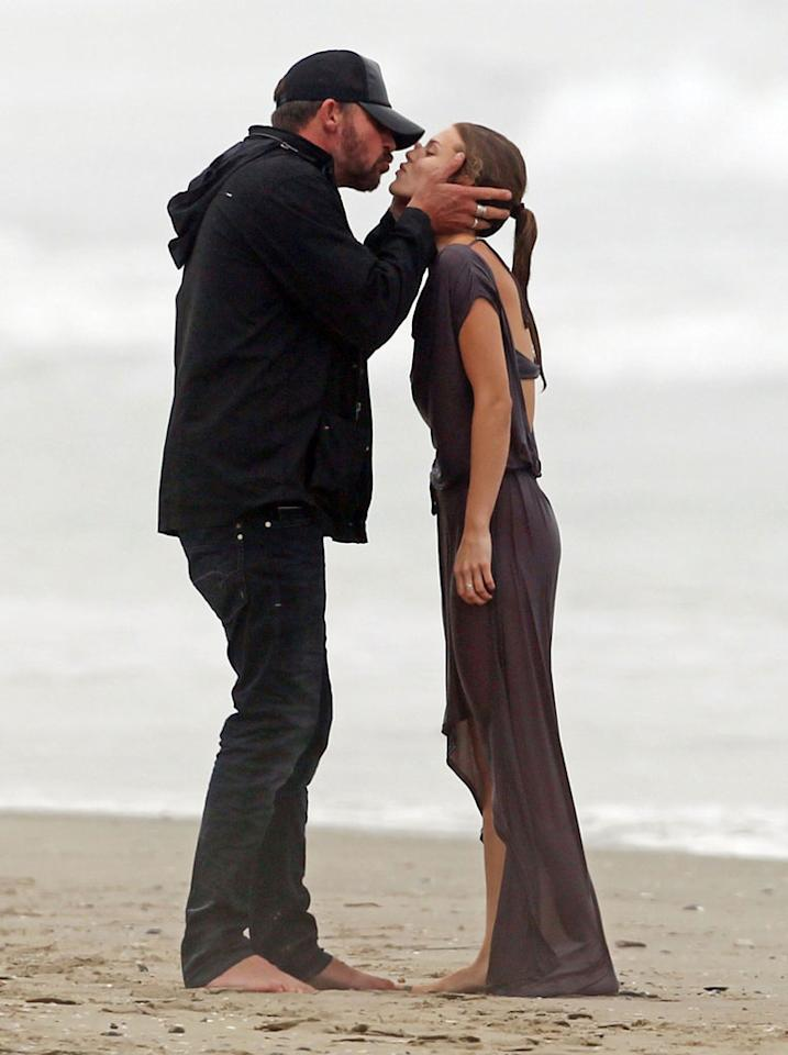 "<p class=""MsoNormal"">""90210"" star AnnaLynne McCord may have cooled off with a fully-clothed ocean dip on her 25th birthday, but her romance with beau Dominic Purcell is definitely heating up, as the pair puckered up on the beach. Now, that's a happy birthday! (7/16/2012)</p>"