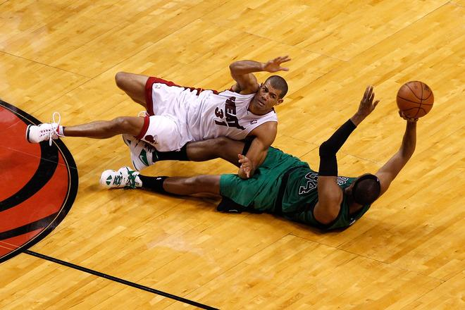 Paul Pierce #34 Of The Boston Celtics Attempts Getty Images