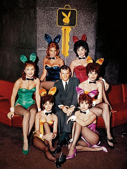 "With the Bunnies""The magazine was about breaking barriers,"" says Hefner, pictured with his Playboy Club bunnies circa 1960. ""It wasn't just a sexual thing."""
