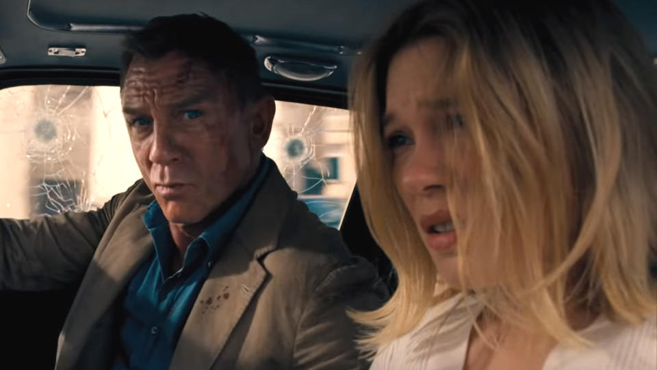 Daniel Craig and Léa Seydoux in 'No Time to Die'. (Credit: Universal/Eon)