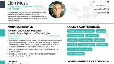 can anyone fit elon musk s resume in a single page a job assistance