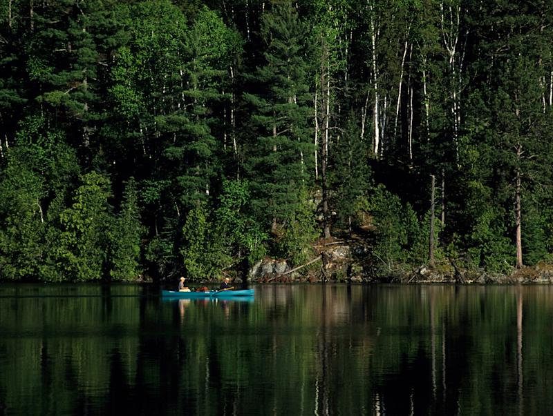 Boundary Waters Canoe Area Wilderness in Superior National Forest, Minnesota.