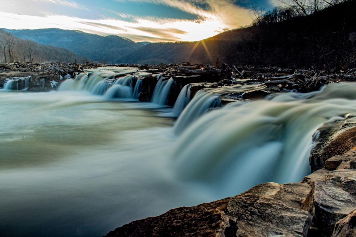 Sandstone Falls on the New River in West Virginia
