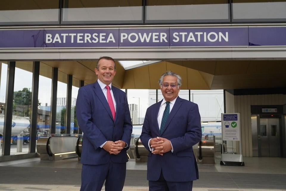 Simon Murphy of Battersea Power Station and Wandsworth council leader Ravi Govindia (Wandsworth council)