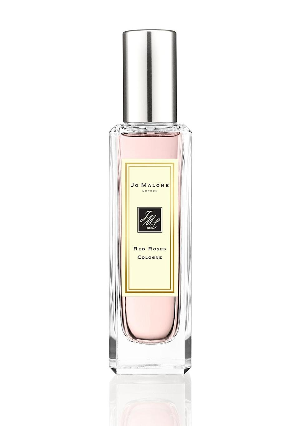"""<p>""""I am a <em>huge</em> fan of roses. My birthday's coming up and I have instructed people: If you're going to give me something, either give me a gift certificate to the Beverly Hot Springs or Jo Malone London's Red Roses lotion or cologne. When I am wearing it, people always say, 'You smell so good.' They've also got these great candles — they make the little small ones that you can travel when you're on the road. It's just my favorite [collection].""""</p> <p><strong>Buy It!</strong> Jo Malone London Red Roses Cologne, $72 for 30ml; <a href=""""https://click.linksynergy.com/deeplink?id=93xLBvPhAeE&mid=39512&murl=https%3A%2F%2Fwww.jomalone.com%2Fproduct%2F25778%2F10066%2Fnew-products%2Fred-roses-cologne%3Fsize%3D30ml&u1=PEOVivicaAFoxsStyleandBeautyEssentialsjfields1271StyGal12812182202107I"""" rel=""""sponsored noopener"""" target=""""_blank"""" data-ylk=""""slk:jomalone.com"""" class=""""link rapid-noclick-resp"""">jomalone.com</a></p>"""