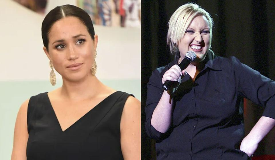 "Meshel Laurie has been called out for labelling Meghan Markle a ""succubus"". (Photo: Getty Images)"