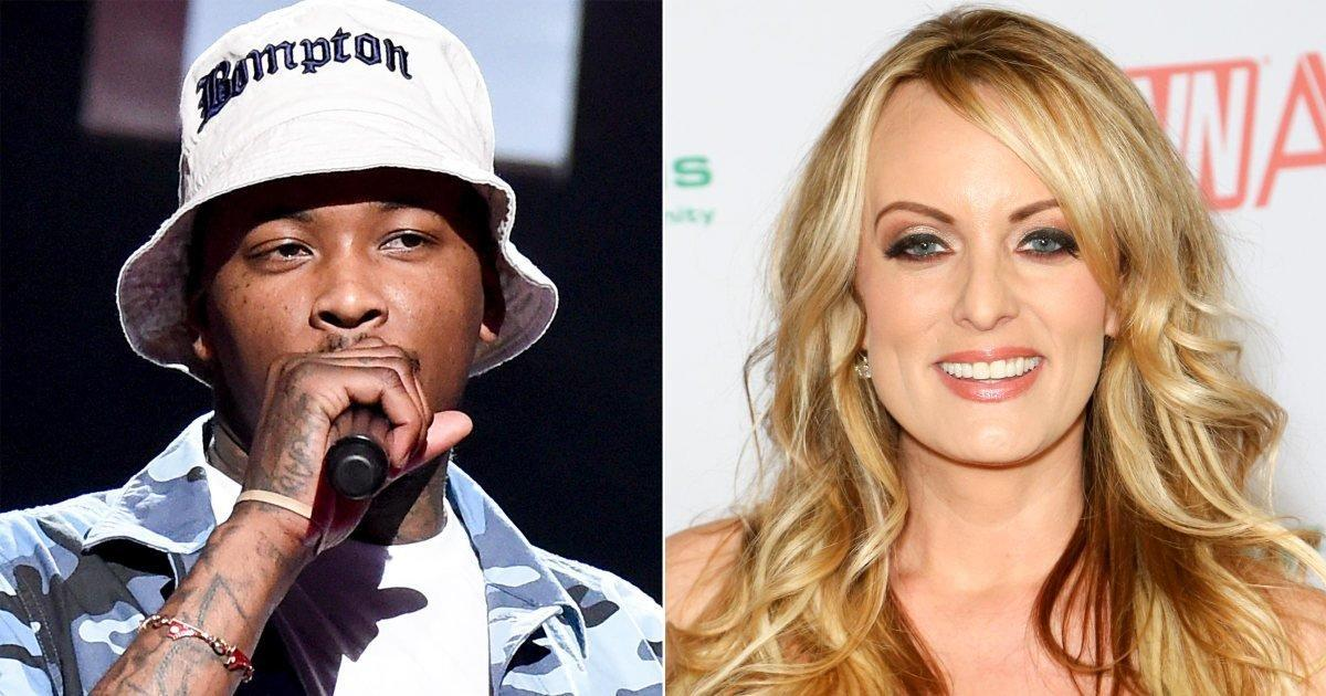 YG Brings Out Stormy Daniels On Stage At Camp Flog Gnaw
