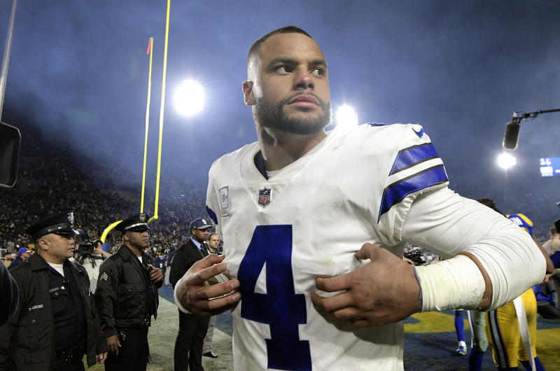Should Dak Prescott consider the salary cap in his contract talks or just try to get paid? (Max Faulkner/Fort Worth Star-Telegram via Getty Images)