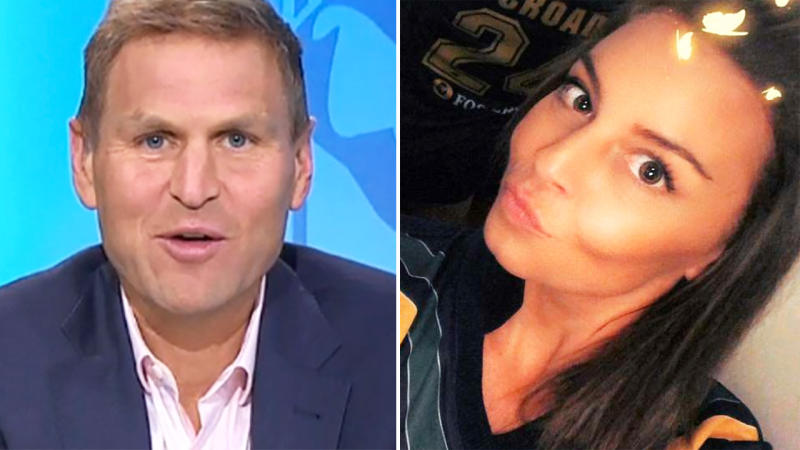 Kate Jesaulenko and Kane Cornes, pictured here discussing the iconic AFL mark.