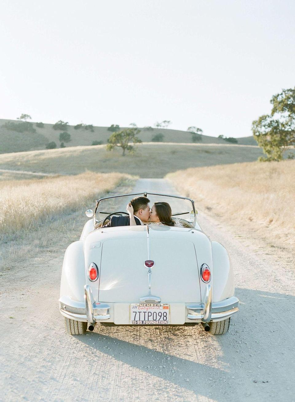 <p>For a nod to tradition, plan a confetti, rice, or sparkler-flying getaway at the end of the night or just after your ceremony, and have a vintage car whisk you off to your reception, after party, hotel suite, or (perhaps the most traditional)—to the airport for your honeymoon.</p>