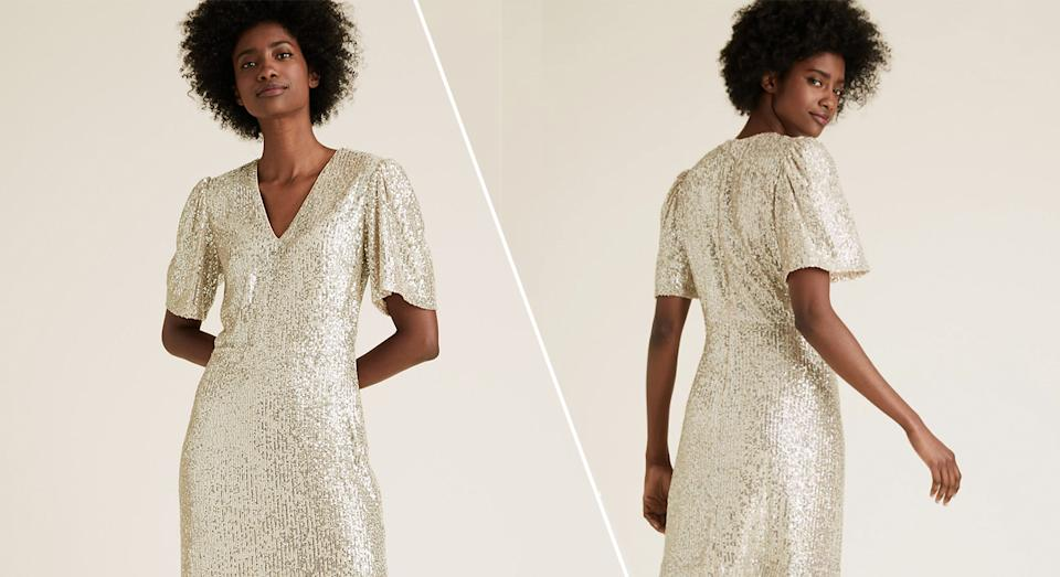 M&S drop new sequin dress and it's the perfect wardrobe essential this party season. (M&S/ Yahoo Style UK)