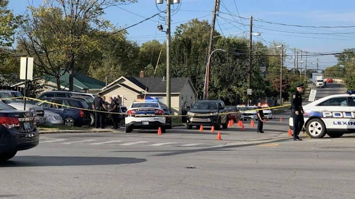 Lexington police investigated a shooting at Seventh Street and Winchester Road that killed two 18-year-olds and injured another teen. They were targeted by members of a gang in another vehicle who fired more than 35 bullets at the busy intersection by a Speedway gas station in the afternoon, according to court records. Prosecutors have filed criminal syndicate charges against 14 alleged gang members in an effort to fight gang violence.