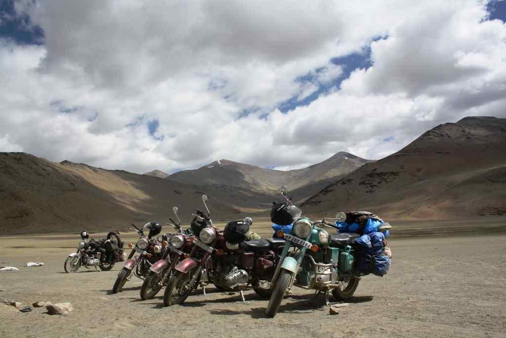 A bunch of happy bikers in Ladakh.