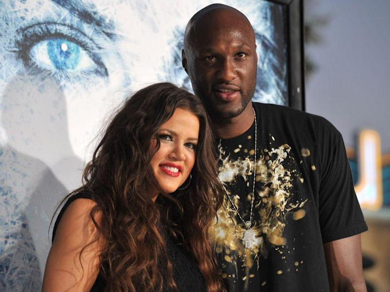 Khloé Kardashian and Lamar Odom in September 2009. Source: Getty